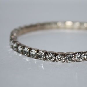 Vintage silver and rhinestone bracelet